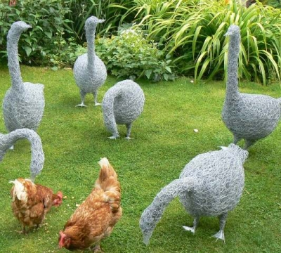 Wire Sculptures 'Geese' with Sue Nichols