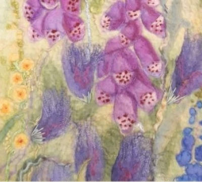Felt Art ..'Beaches or Flower Borders' with Marian May